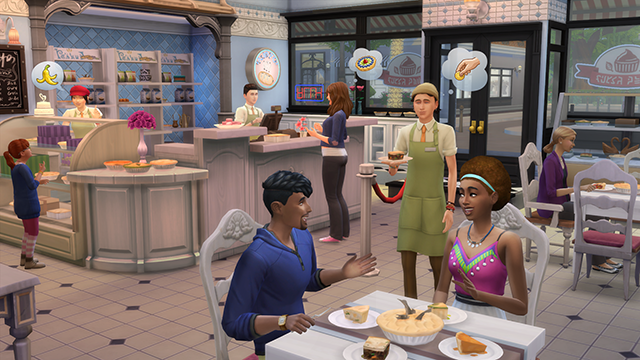 the sims running a bakery is no cake walk official site. Black Bedroom Furniture Sets. Home Design Ideas