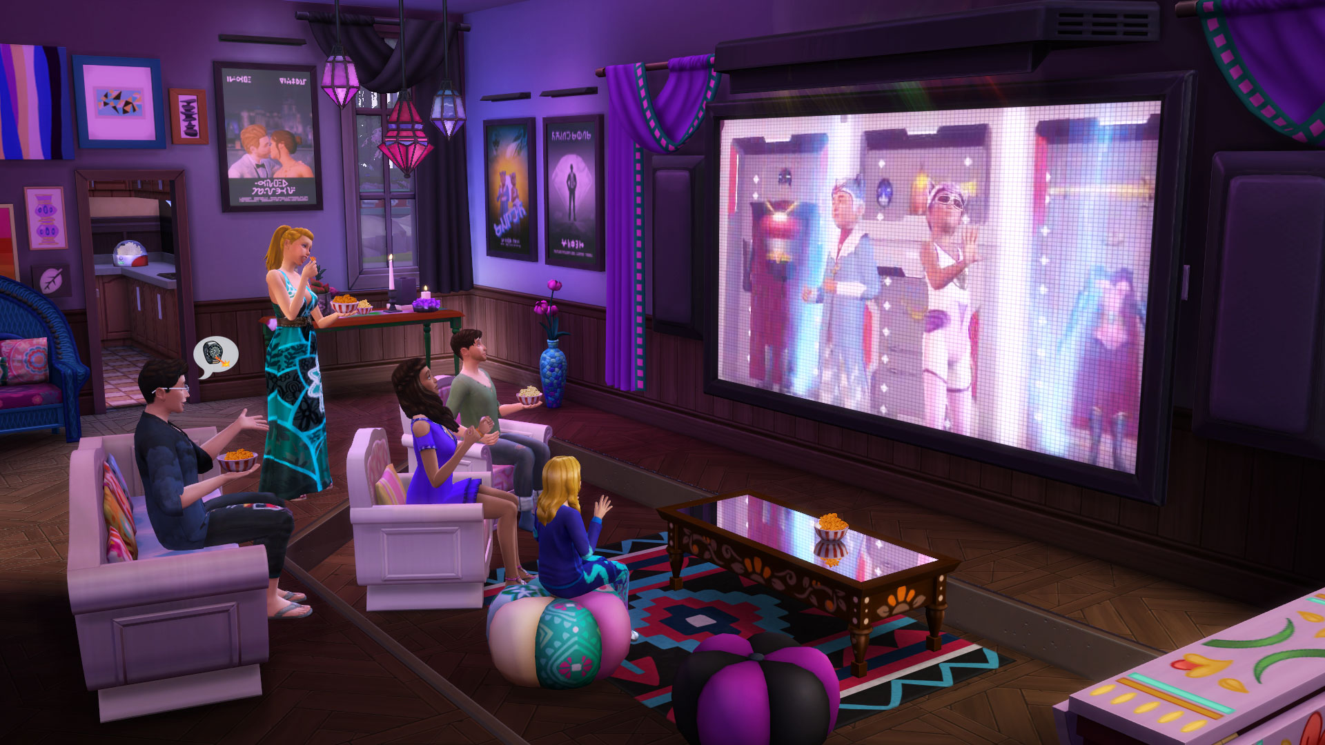 The Sims - It's Movie Time! The Sims 4 Movie Hangout Stuff is Coming Next Week - Official Site