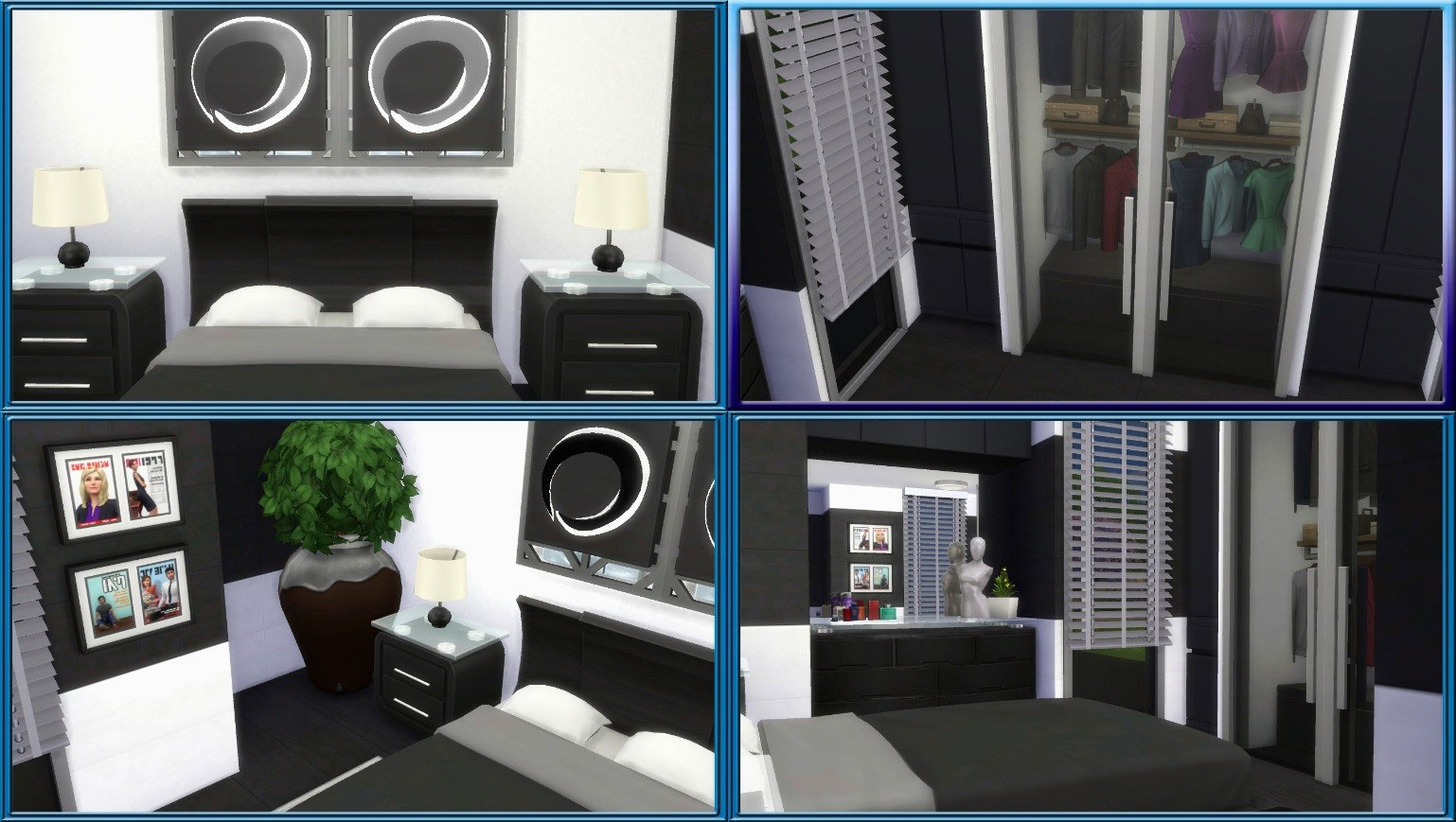 The sims how to create an amazing modern bedroom in the for Bedroom designs sims 4